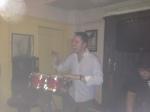 Danny (birthday boy) on the bongos!